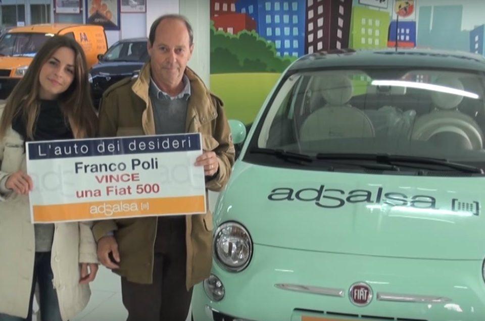 Vince una Fiat 500